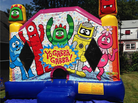 Yo Gabba Gabba Bounce House Rental | JLApartyrentals com New